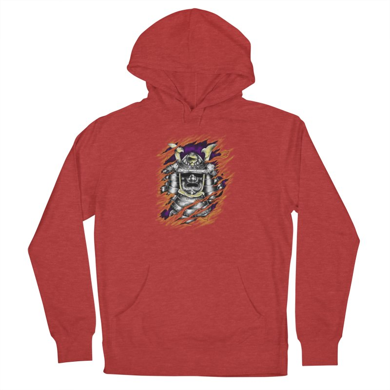 samurai Men's French Terry Pullover Hoody by hd's Artist Shop