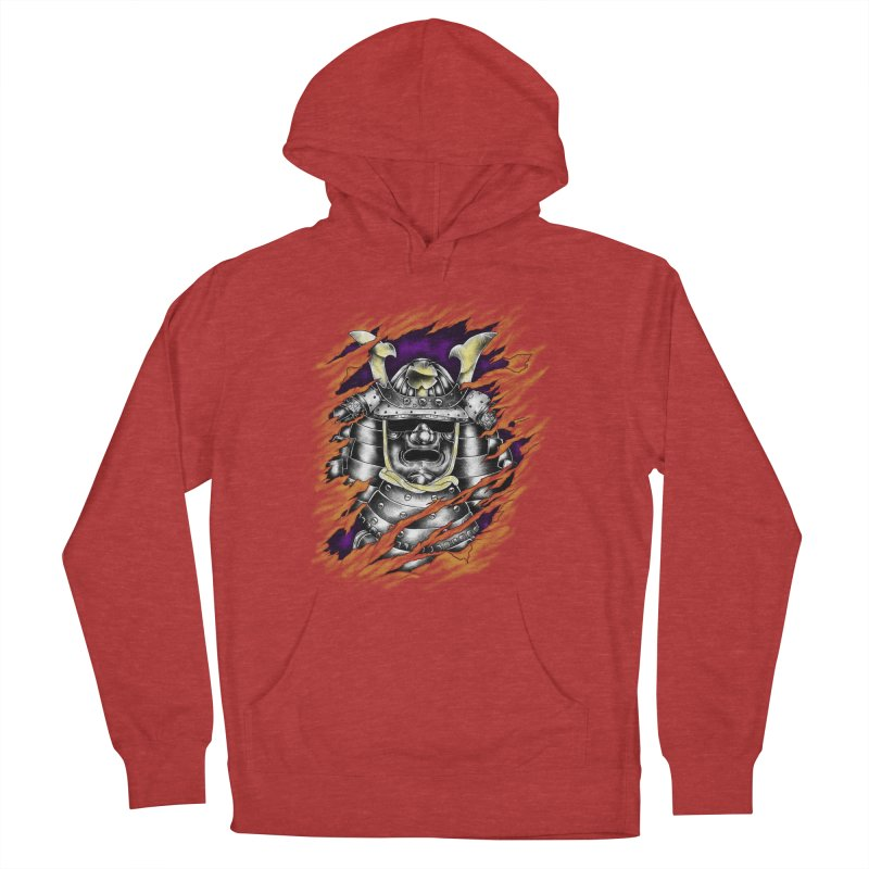 samurai Women's French Terry Pullover Hoody by hd's Artist Shop