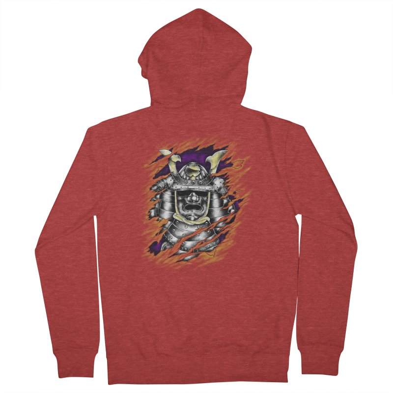 samurai Men's Zip-Up Hoody by hd's Artist Shop