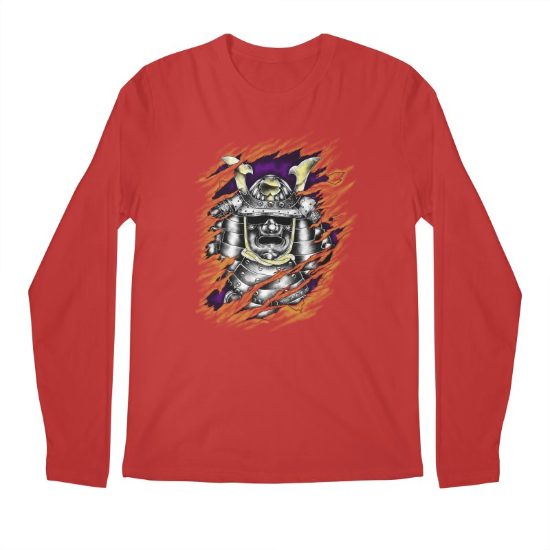 samurai Men's Regular Longsleeve T-Shirt by hd's Artist Shop