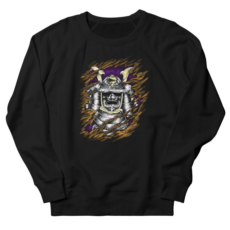 samurai Men's French Terry Sweatshirt by hd's Artist Shop