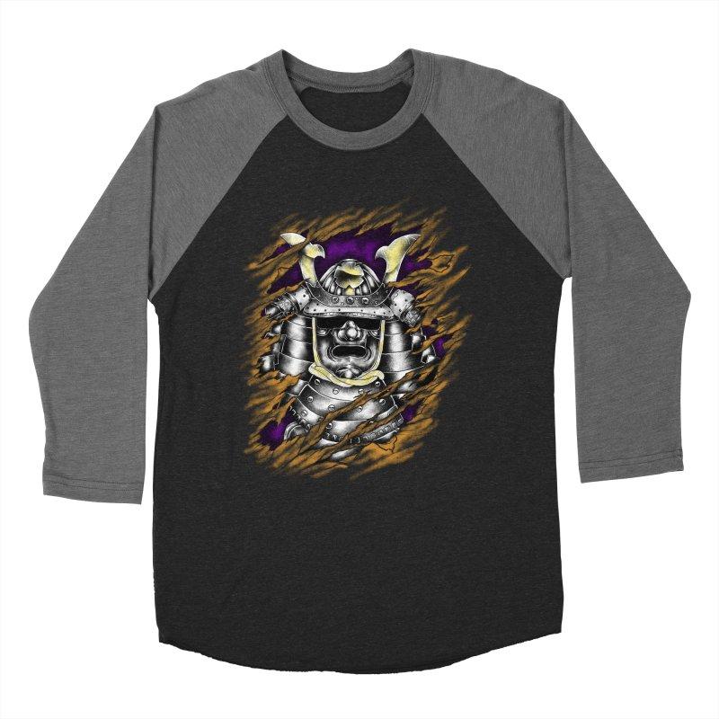 samurai Men's Baseball Triblend T-Shirt by hd's Artist Shop