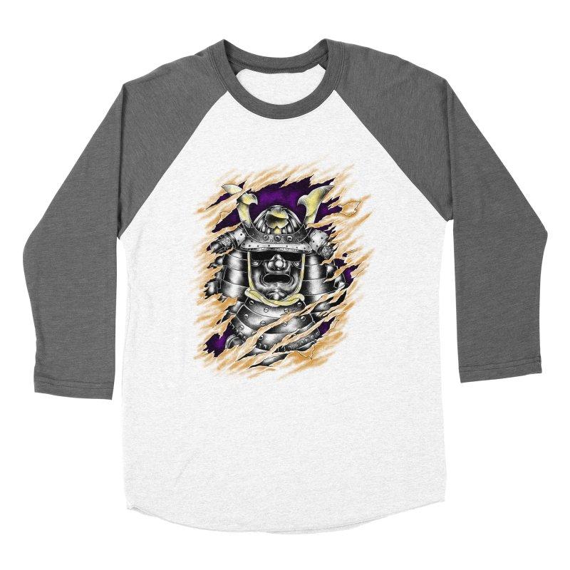 samurai Men's Baseball Triblend Longsleeve T-Shirt by hd's Artist Shop