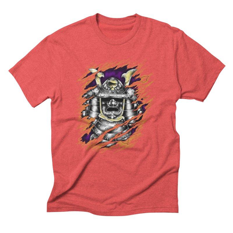 samurai Men's Triblend T-shirt by hd's Artist Shop
