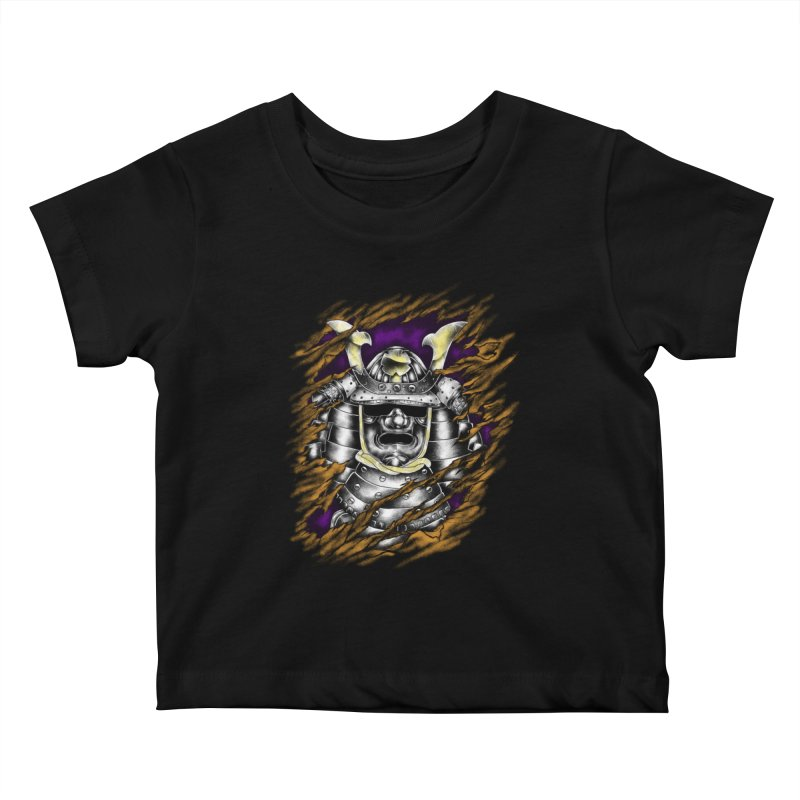 samurai Kids Baby T-Shirt by hd's Artist Shop