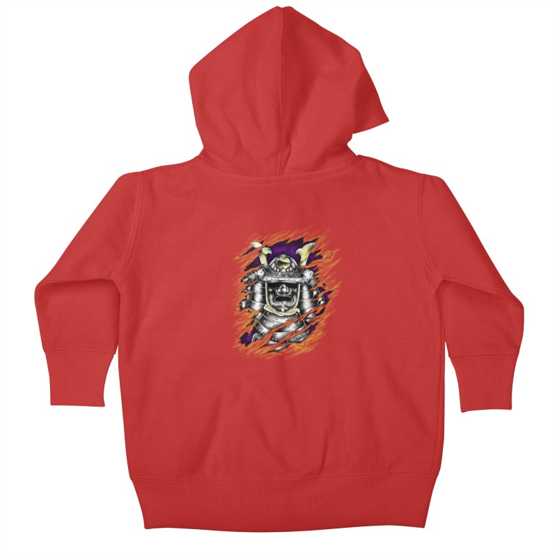 samurai Kids Baby Zip-Up Hoody by hd's Artist Shop