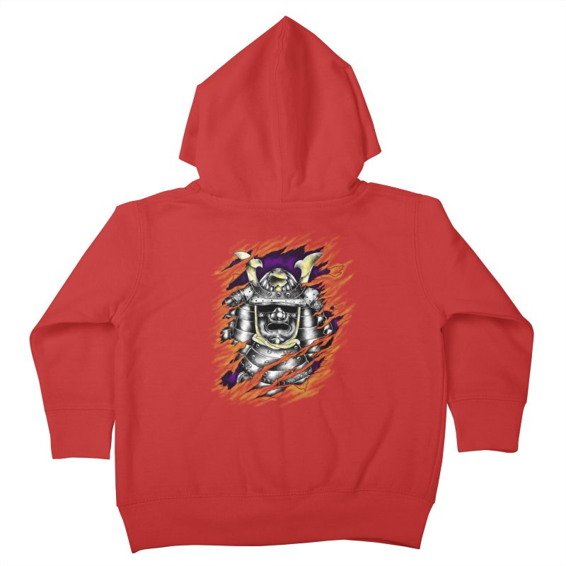 samurai Kids Toddler Zip-Up Hoody by hd's Artist Shop