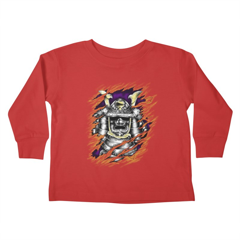 samurai Kids Toddler Longsleeve T-Shirt by hd's Artist Shop