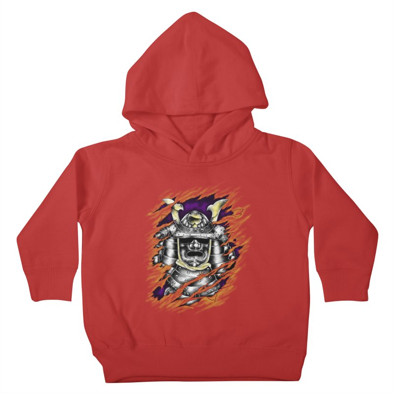 samurai Kids Toddler Pullover Hoody by hd's Artist Shop