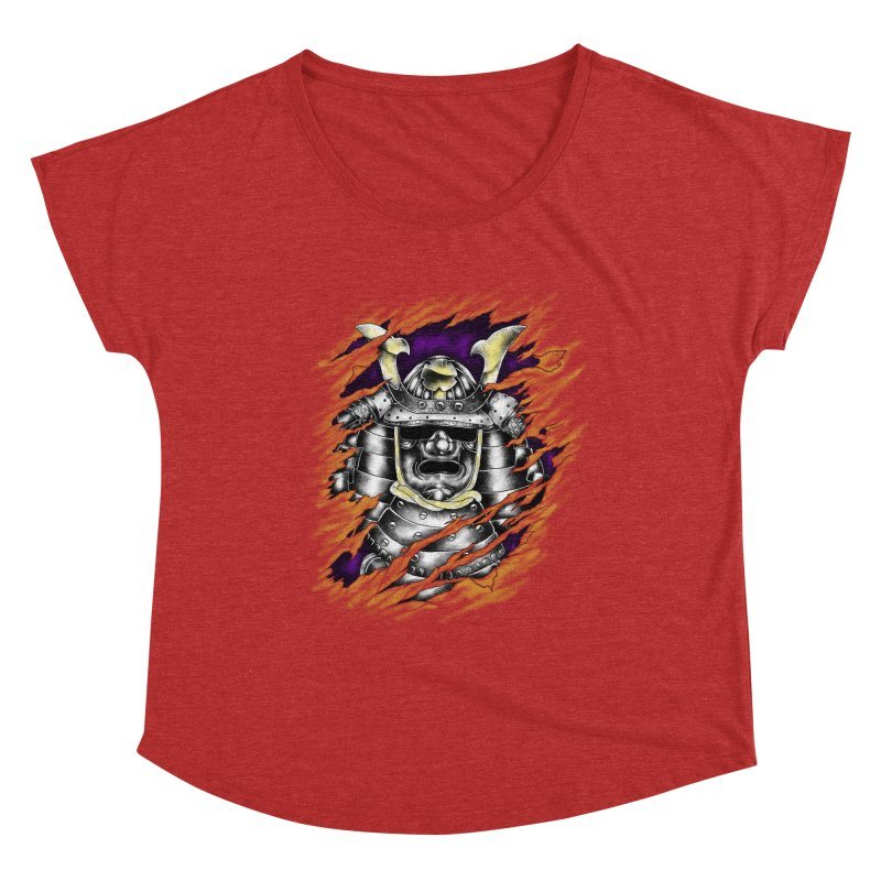 samurai Women's Scoop Neck by hd's Artist Shop