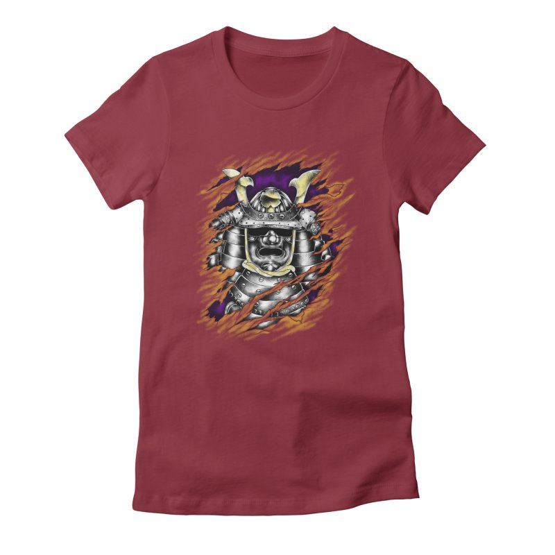 samurai Women's Fitted T-Shirt by hd's Artist Shop