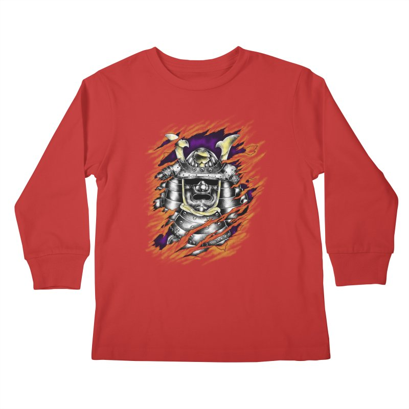 samurai Kids Longsleeve T-Shirt by hd's Artist Shop