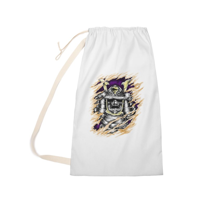 samurai Accessories Laundry Bag Bag by hd's Artist Shop