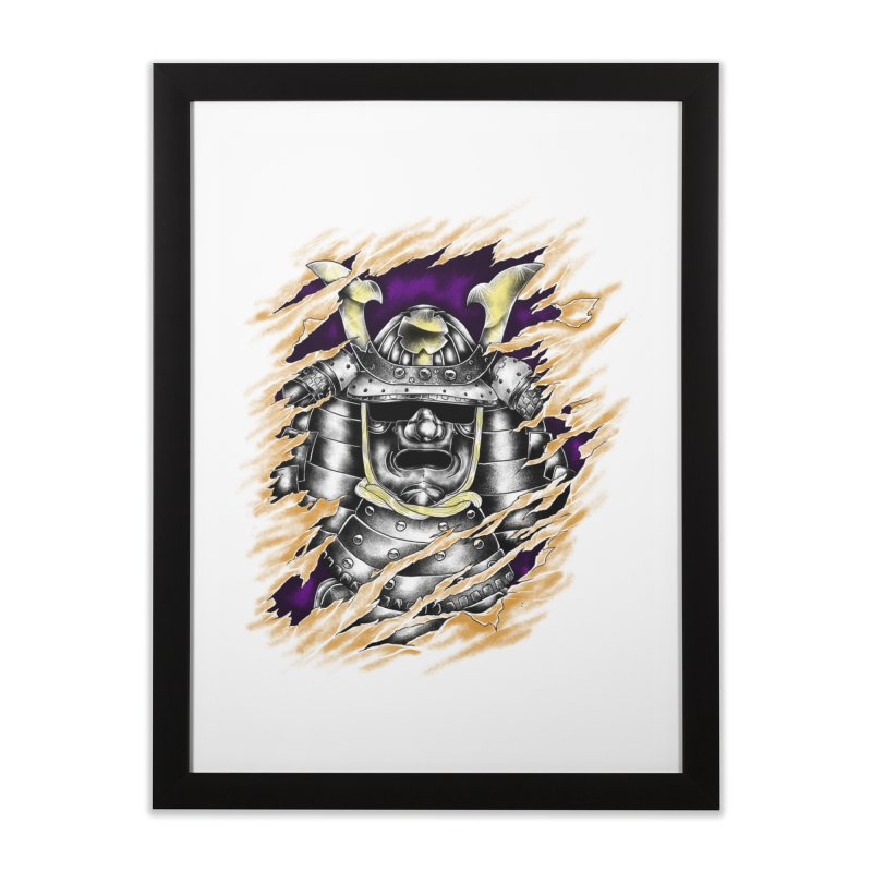 samurai Home Framed Fine Art Print by hd's Artist Shop