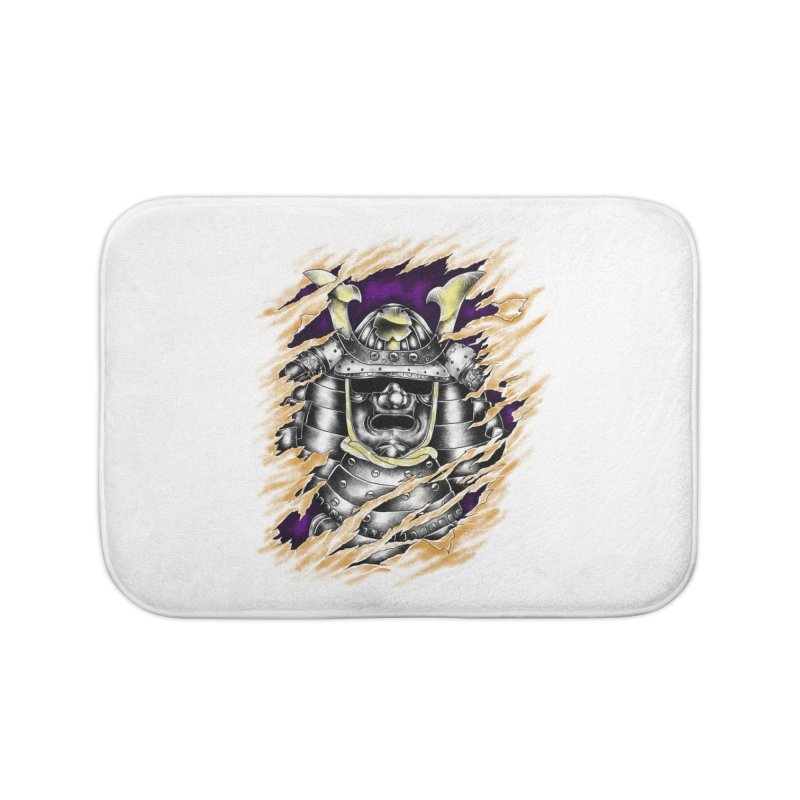 samurai Home Bath Mat by hd's Artist Shop
