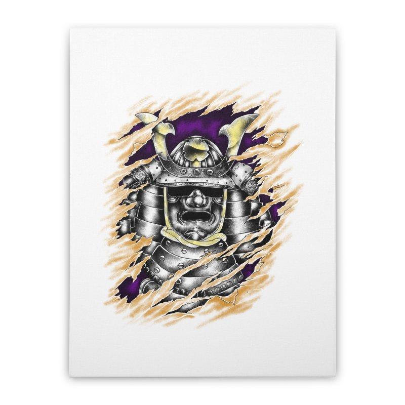 samurai Home Stretched Canvas by hd's Artist Shop