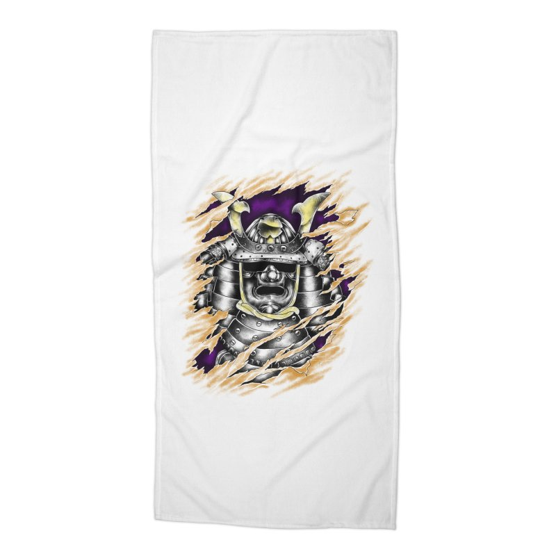 samurai Accessories Beach Towel by hd's Artist Shop