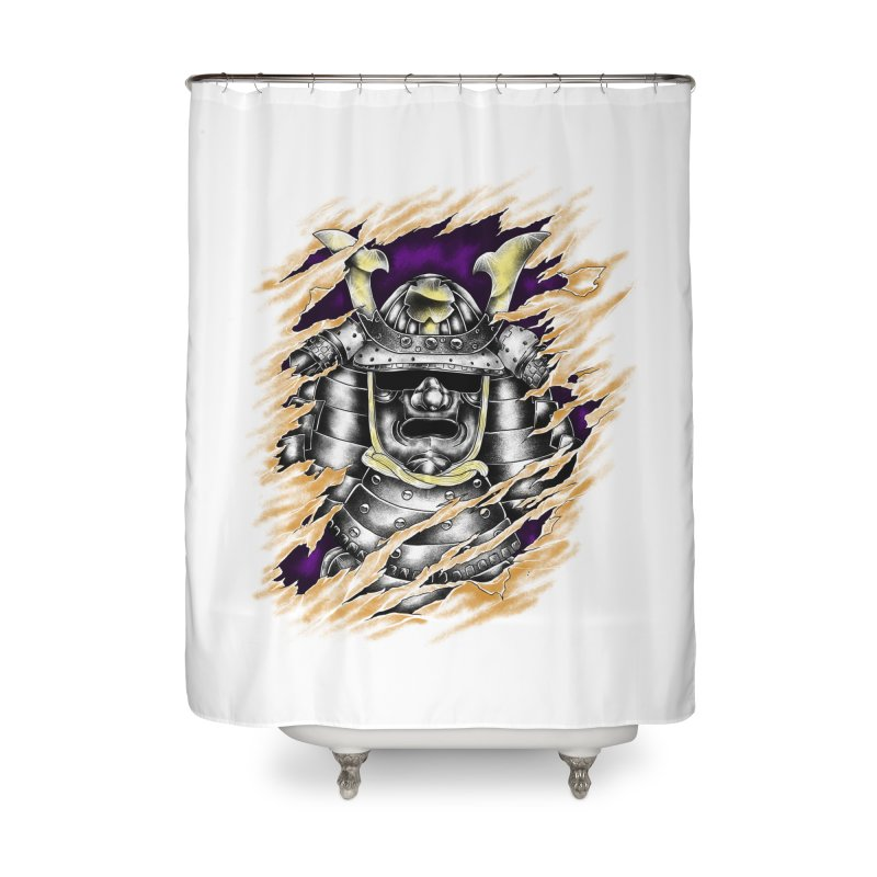 samurai Home Shower Curtain by hd's Artist Shop