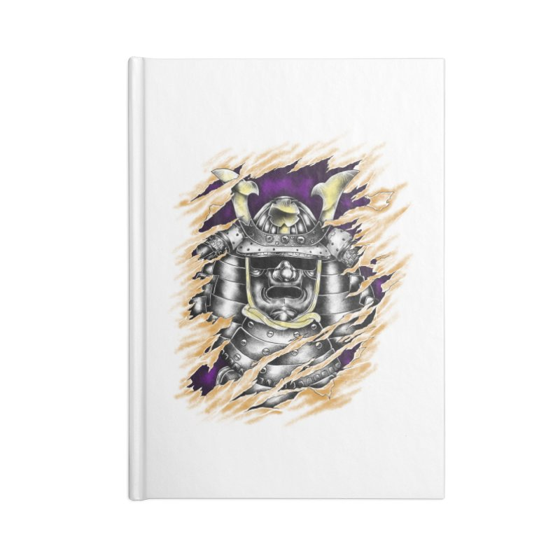 samurai Accessories Notebook by hd's Artist Shop