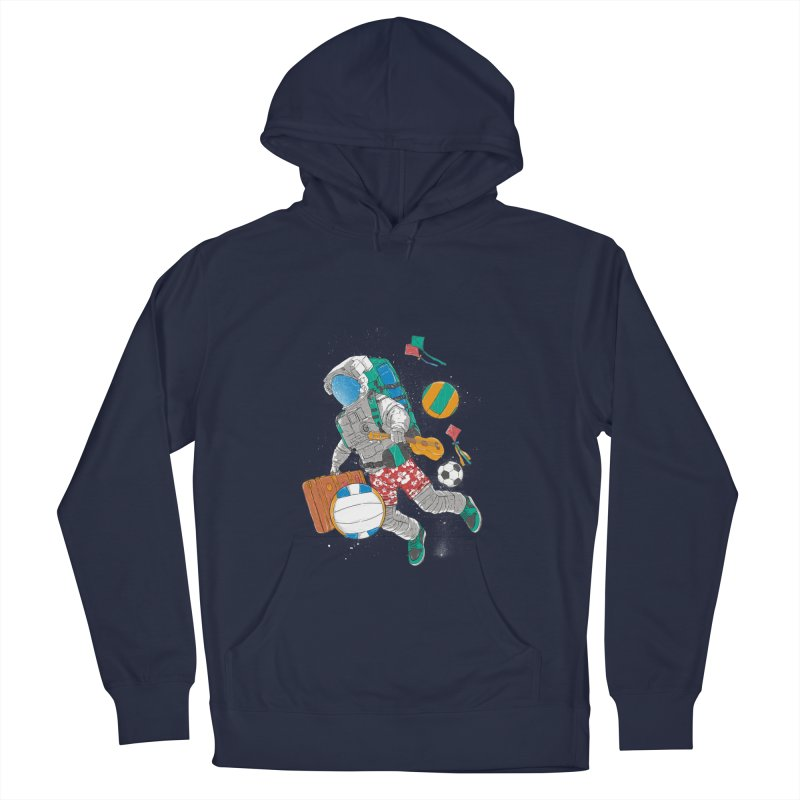 astronaut on vacation Men's Pullover Hoody by hd's Artist Shop