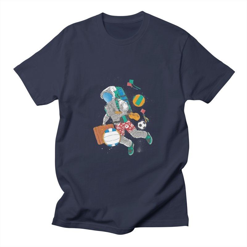 astronaut on vacation Men's T-Shirt by hd's Artist Shop