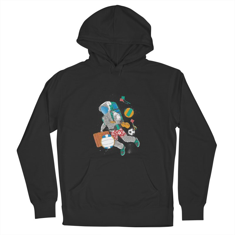 astronaut on vacation Men's French Terry Pullover Hoody by hd's Artist Shop