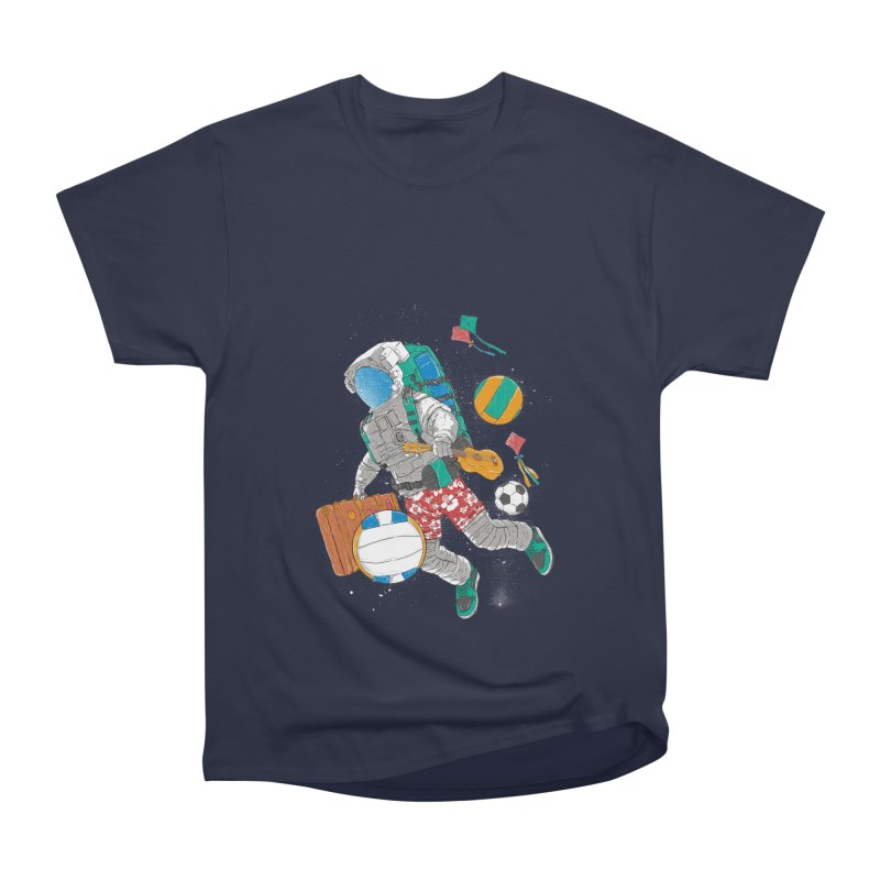 astronaut on vacation Men's Heavyweight T-Shirt by hd's Artist Shop