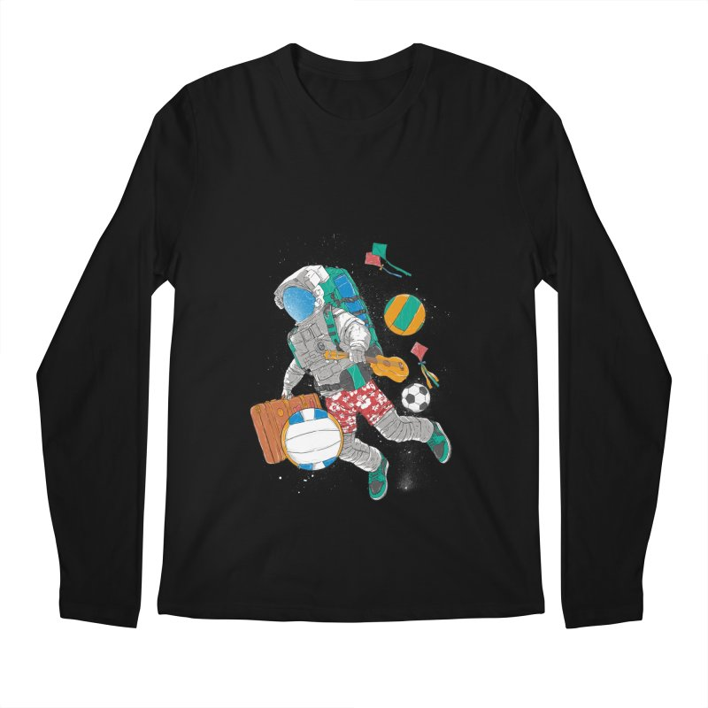 astronaut on vacation Men's Regular Longsleeve T-Shirt by hd's Artist Shop