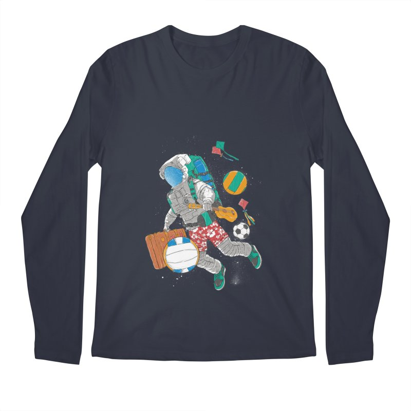 astronaut on vacation Men's Longsleeve T-Shirt by hd's Artist Shop