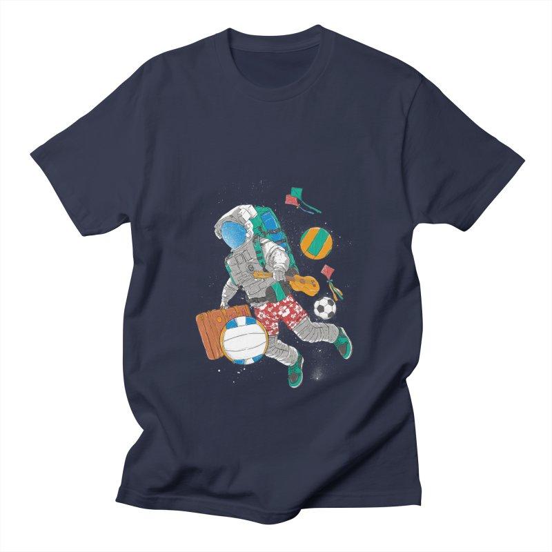 astronaut on vacation Men's Regular T-Shirt by hd's Artist Shop