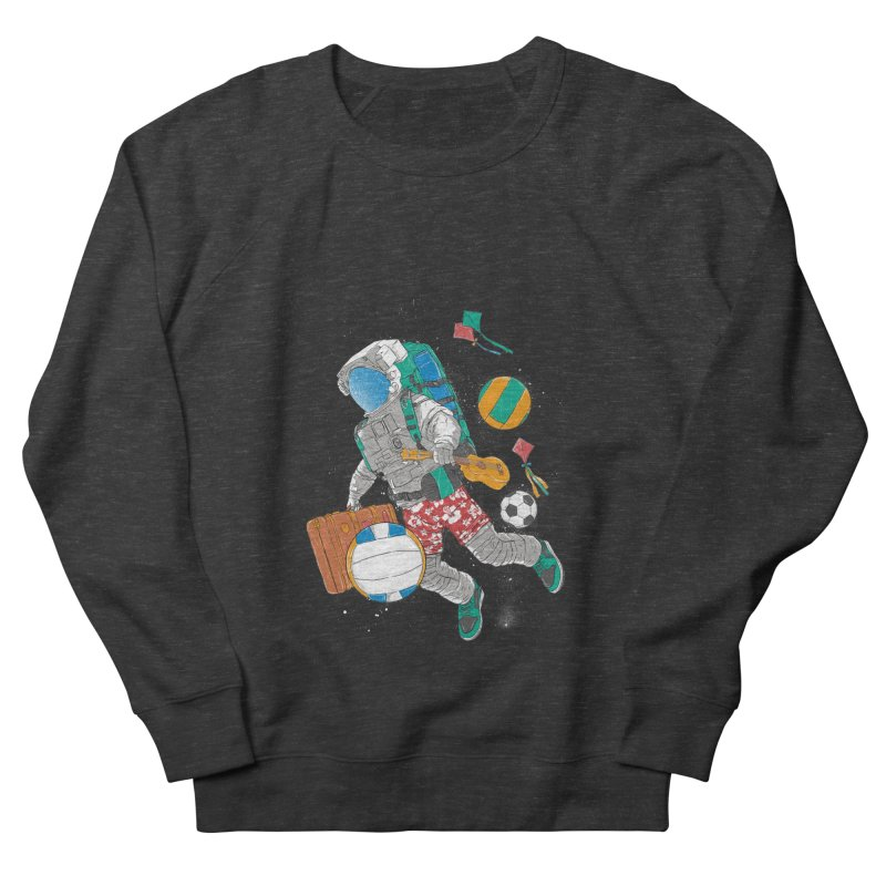 astronaut on vacation Men's Sweatshirt by hd's Artist Shop