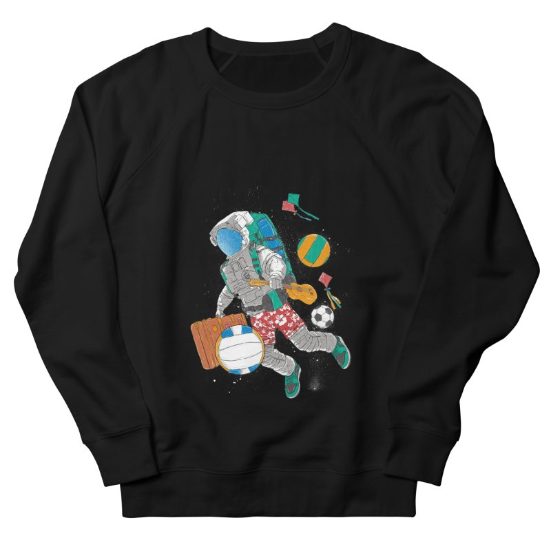 astronaut on vacation Men's French Terry Sweatshirt by hd's Artist Shop