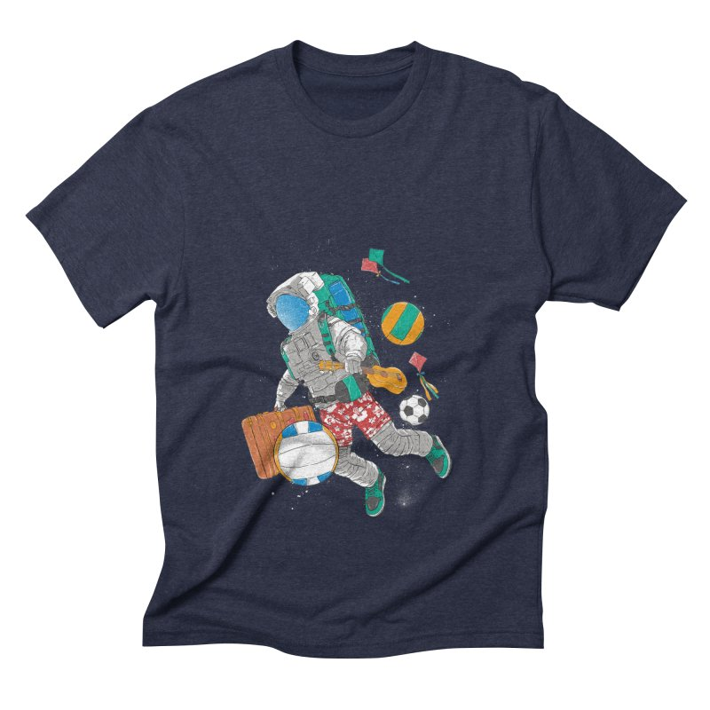 astronaut on vacation Men's Triblend T-Shirt by hd's Artist Shop