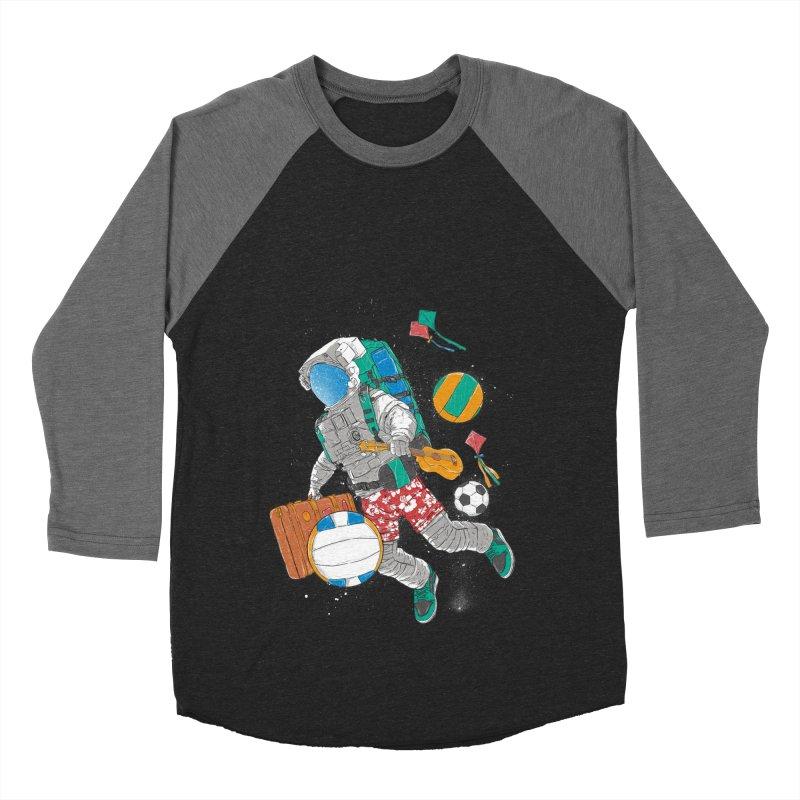 astronaut on vacation Men's Baseball Triblend Longsleeve T-Shirt by hd's Artist Shop