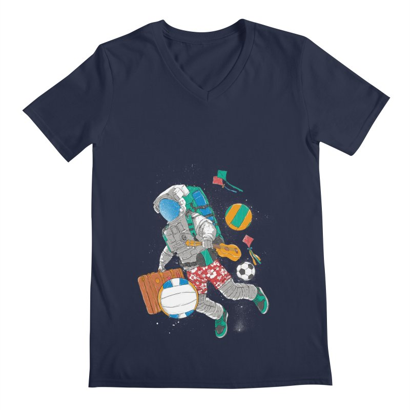 astronaut on vacation Men's V-Neck by hd's Artist Shop