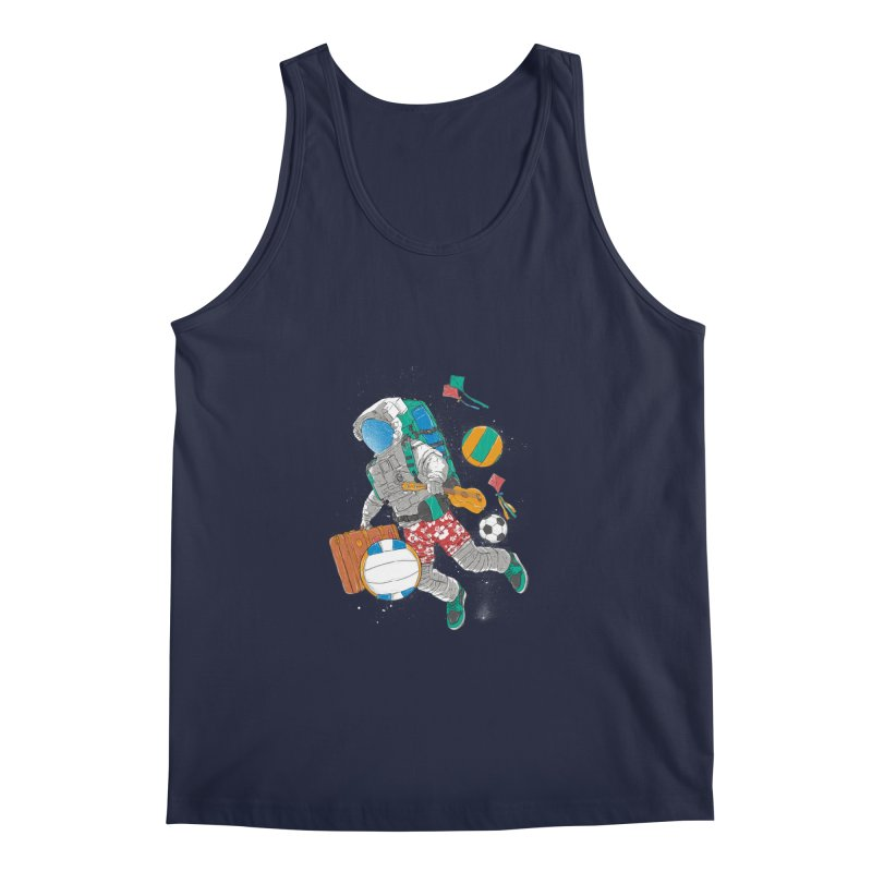 astronaut on vacation Men's Regular Tank by hd's Artist Shop