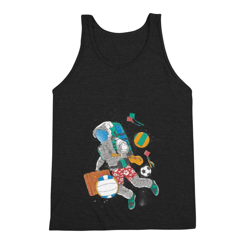 astronaut on vacation Men's Triblend Tank by hd's Artist Shop