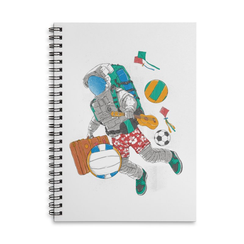 astronaut on vacation Accessories Lined Spiral Notebook by hd's Artist Shop