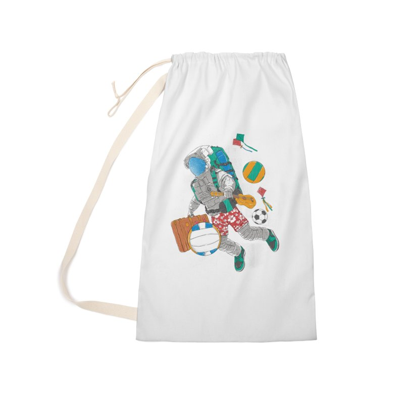 astronaut on vacation Accessories Laundry Bag Bag by hd's Artist Shop