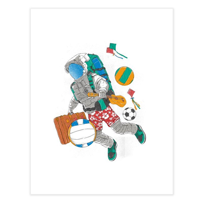 astronaut on vacation Home Fine Art Print by hd's Artist Shop