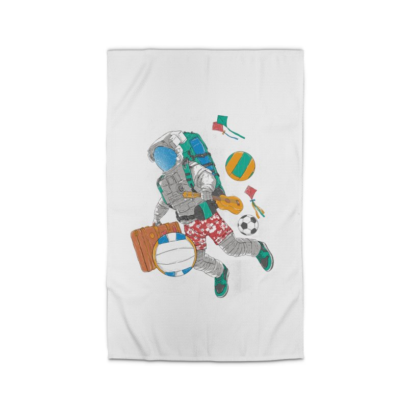 astronaut on vacation Home Rug by hd's Artist Shop