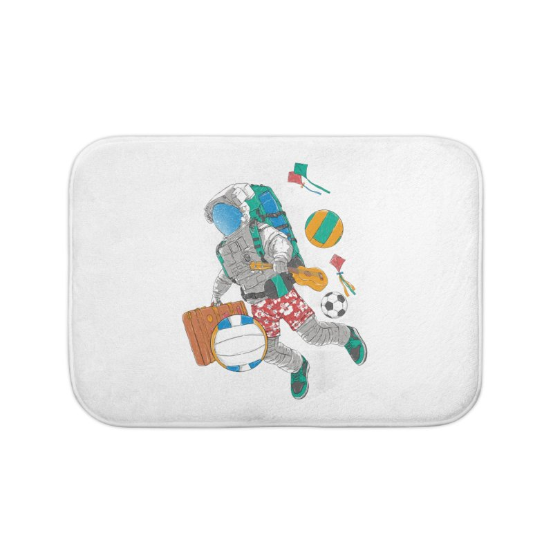 astronaut on vacation Home Bath Mat by hd's Artist Shop