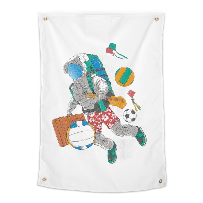 astronaut on vacation Home Tapestry by hd's Artist Shop