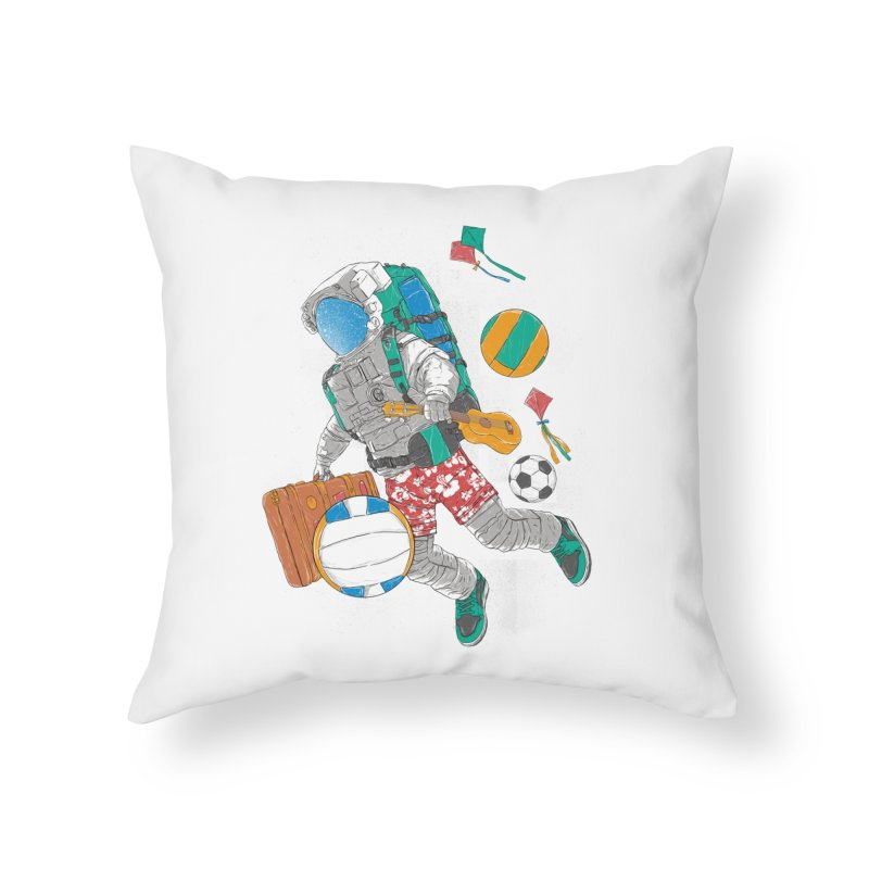 astronaut on vacation Home Throw Pillow by hd's Artist Shop