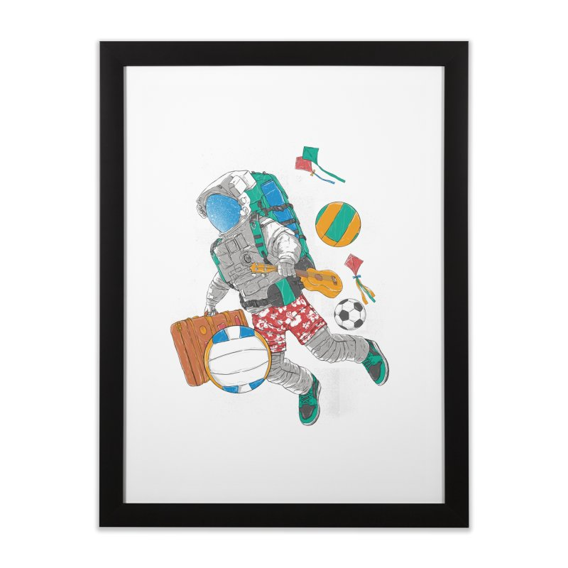 astronaut on vacation Home Framed Fine Art Print by hd's Artist Shop