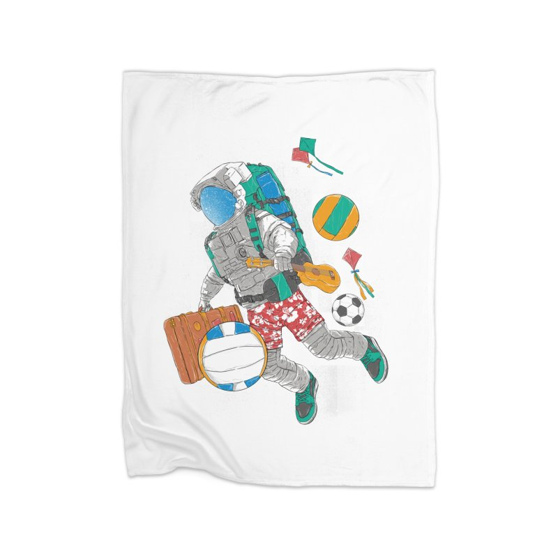 astronaut on vacation Home Blanket by hd's Artist Shop