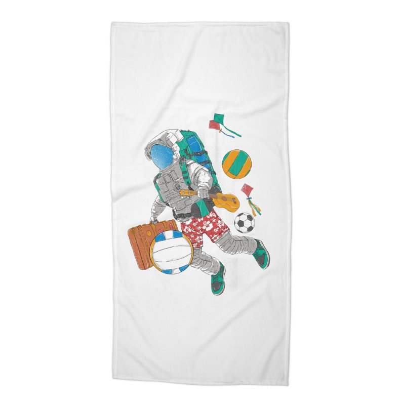 astronaut on vacation Accessories Beach Towel by hd's Artist Shop