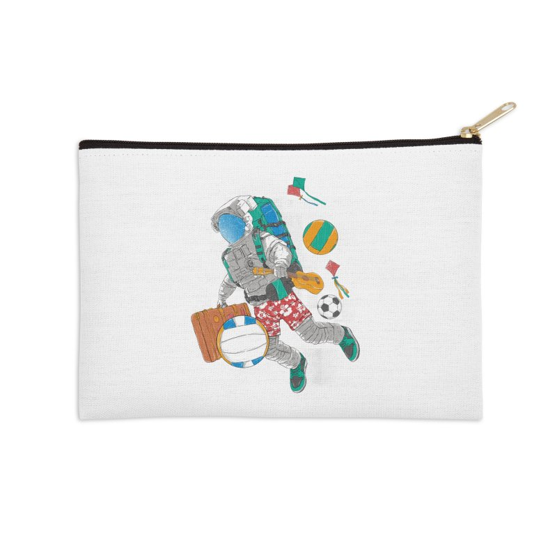 astronaut on vacation Accessories Zip Pouch by hd's Artist Shop