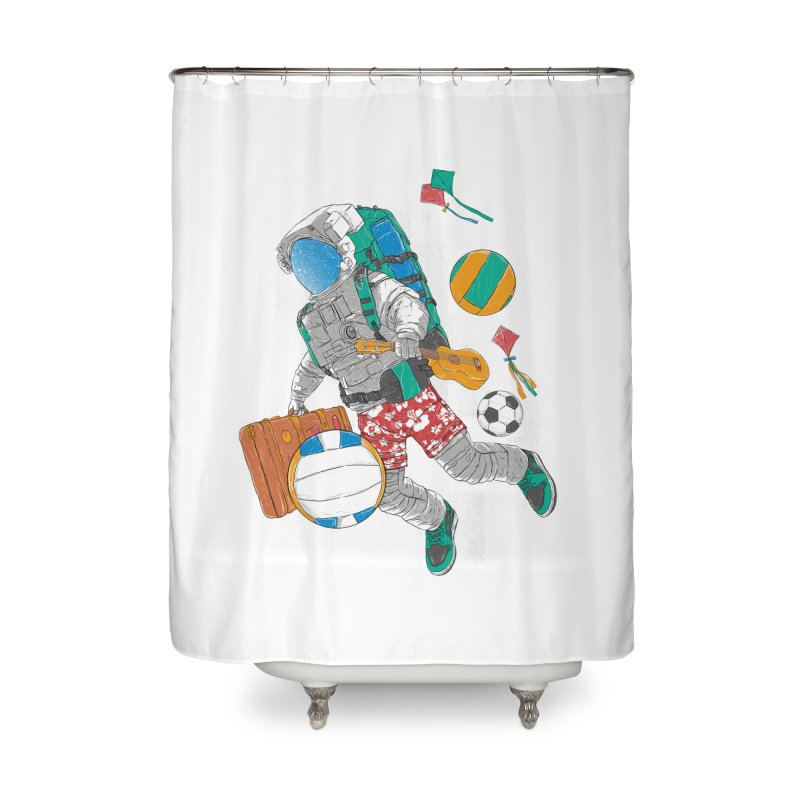 astronaut on vacation Home Shower Curtain by hd's Artist Shop