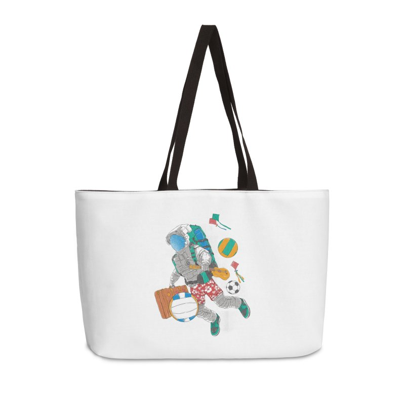 astronaut on vacation Accessories Weekender Bag Bag by hd's Artist Shop